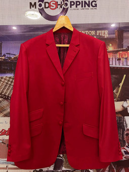 Red Blazers Tailored 3 Button Mod Blazer