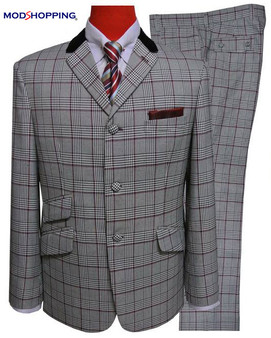 2 Piece Suit | Grey Prince of Wales Check Suit