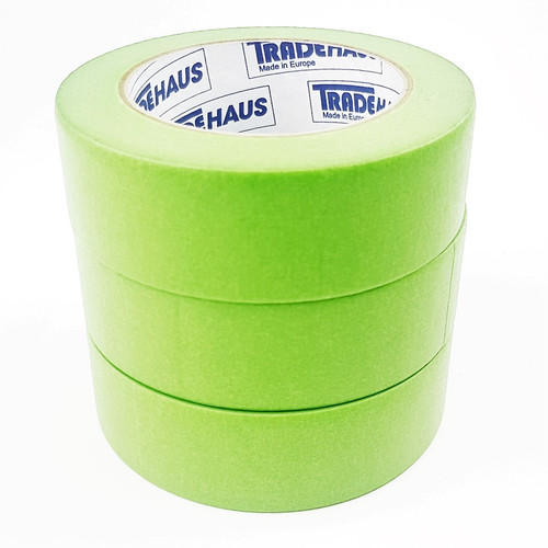 3x Tradehaus High Temperature Masking Tape Roll 36mm x 50m Automotive Painting