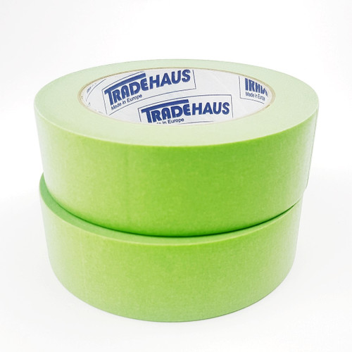 2x Tradehaus High Temperature Masking Tape Roll 36mm x 50m Automotive Painting