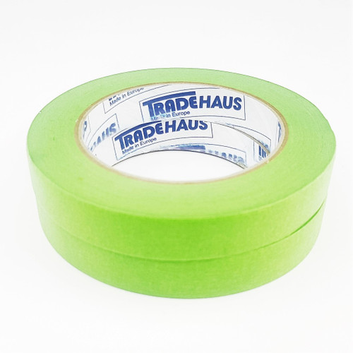2x Tradehaus High Temperature Masking Tape Roll 18mm x 50m Automotive Painting
