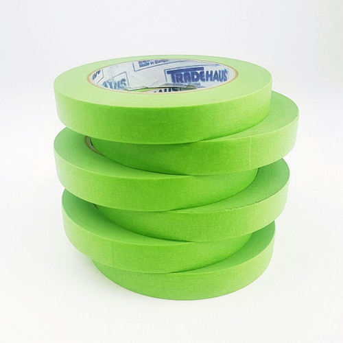 6x Tradehaus High Temperature Masking Tape Roll 18mm x 50m Automotive Painting