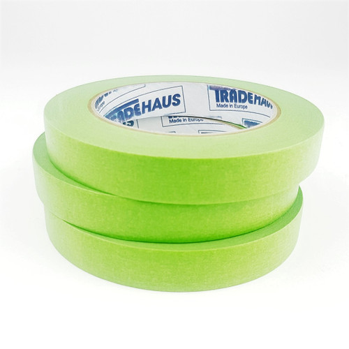 3x Tradehaus High Temperature Masking Tape Roll 18mm x 50m Automotive Painting