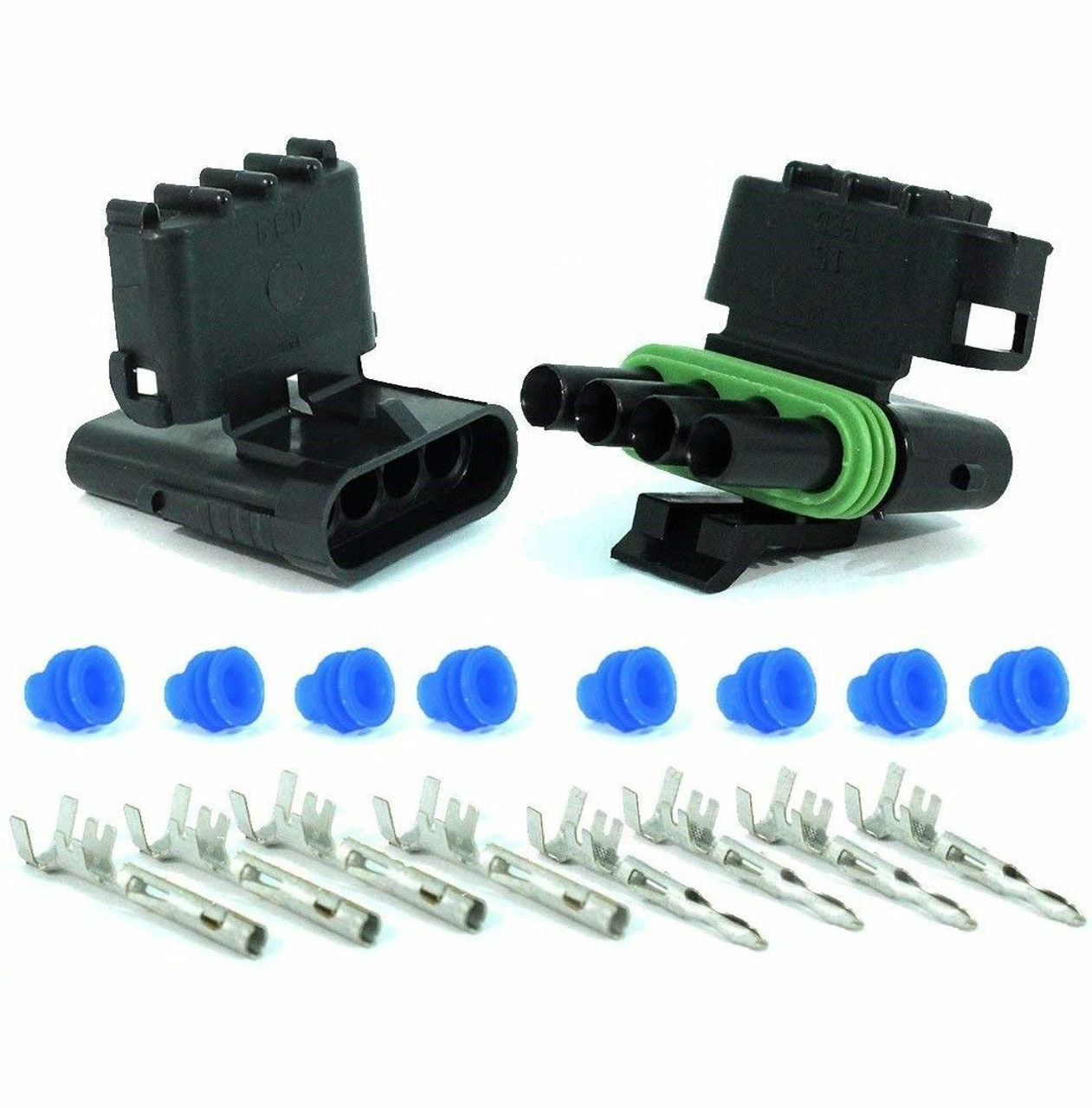Weather Pack 10 sets Kit 2 3 4 6 Pin Way Waterproof Electrical Wire automotive Connector Plug 1P