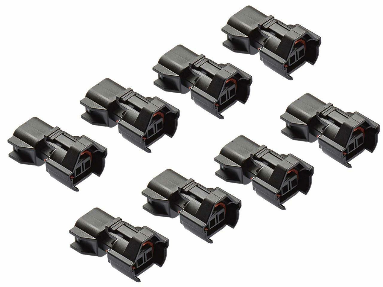 Qty 8 EV1 Jetronic Minitimer Female to EV6 USCAR Male Fuel Injector Adapter