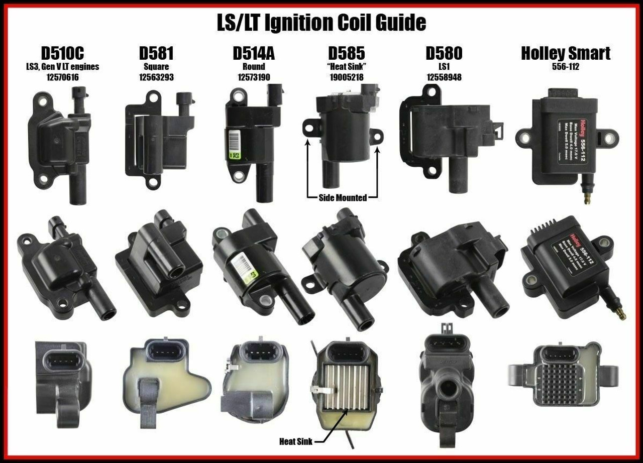"LS2 LS3 LS7 LQ4 LQ9 Ignition Coil 36"" Harness Extension Relocation Brackets"