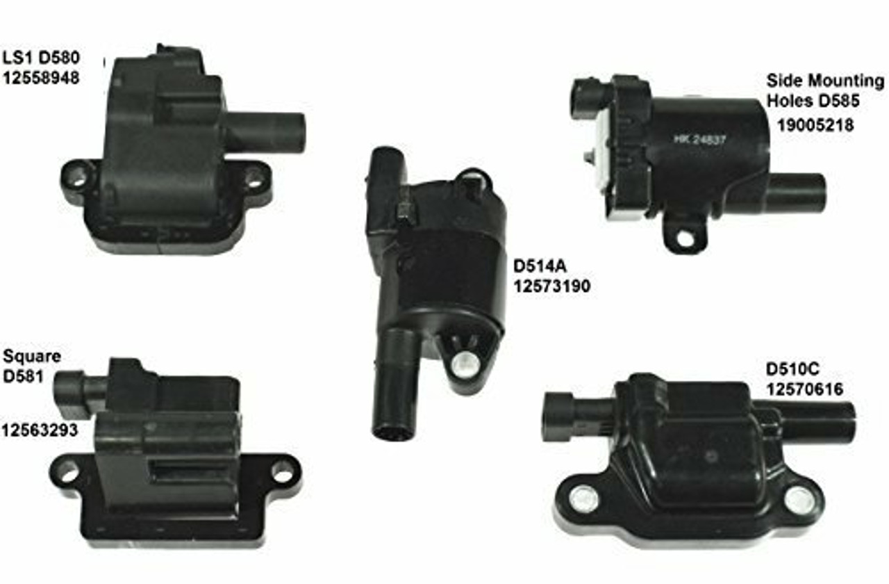 Coil Pack Relocation Brackets for LS2 LS7 LSX 12573190 D514A MSD 30502