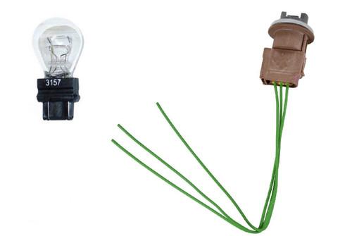 Ford Light Socket Signal Lamp Headlight Parking Wiring Pigtail, Bulb Fits 1996-2016 Ford Vehicles 3U2Z14S411FHAB