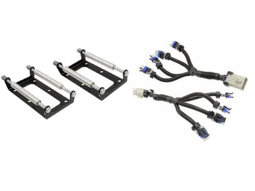 D510C LS2 LS3 LS4 LS7 LS9 Coil Pack Relocation Bracket mount and Coil Harness - Powdercoated Black