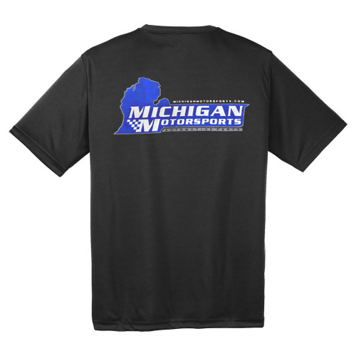Michigan Motorsports Black Logo Dry-wicking T-Shirt