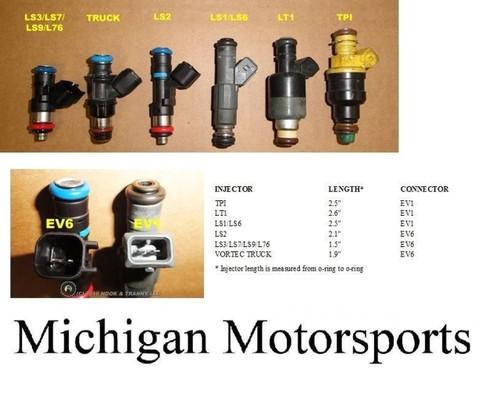 Black .60 14mm Fuel Injector Spacer Extender. Adapts Short LS3 LS7 L92 L99 L76 L98 LS9  LSA Injectors to LS2 Intake or use a Truck Injector on a LS1 Intake.