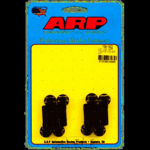 ARP 134-1502 Black Timing Cover Bolt Kit Fits 1997-2014 4.8 5.3 5.7 6.0 6.2 7.0L 12 PT Oxide Steel LS