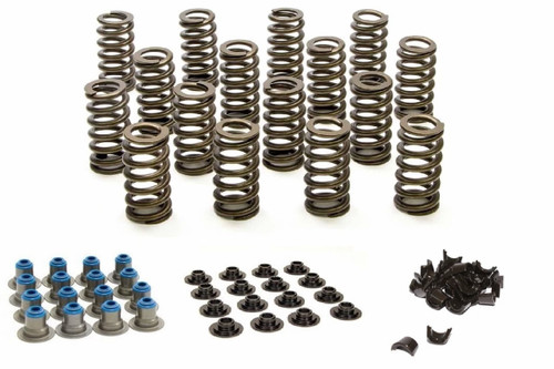 """PAC Racing Spring Kit PAC-1219 1.207 Valve Springs, Retainers, Seals, Locks -Ovate Beehive LS Engines .625"""" Lift QTY 16"""