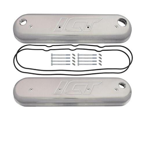 LS Billet Aluminum Valve Cover Set 12 orb PCV Fits LS1 LS2 LSX LS7 LS3 ICT Billet