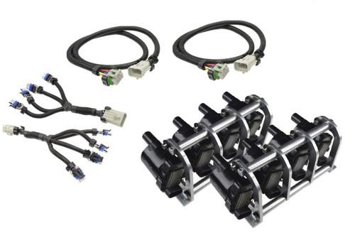 1/2 set of D585 Heat Sink Truck Coil Relocation Bracket Kit with Harnesses - LSX LS LQ4 LQ9 Remote Mount