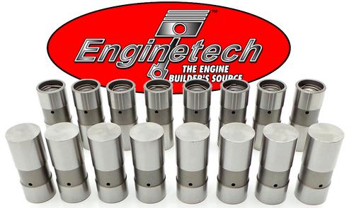 Hydraulic Flat Lifters Set Chevrolet SBC BBC 5.7L 350 383 400 327 307 305 283 Enginetech L817-16 Corvette Camaro