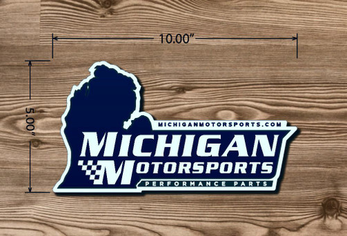 Michigan Motorsports 5 X 10 Decal Logo