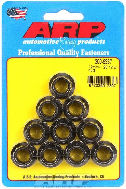 ARP 300-8337 Nuts 12-Point Nuts 12mm x 1.25 Metric Qty 10