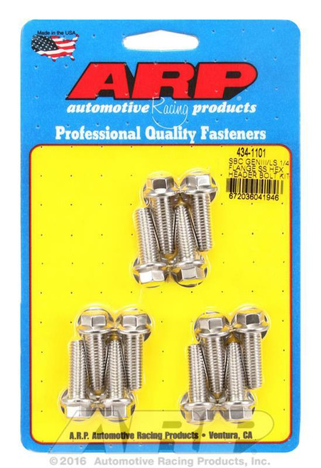 ARP 434-1101 Stainless Steel Header Bolts Fits 1997-2019 Gen III IV  5.3 5.7 6.0  6.2 7.0 LS1 LS2 LS3 LT1 LS Series