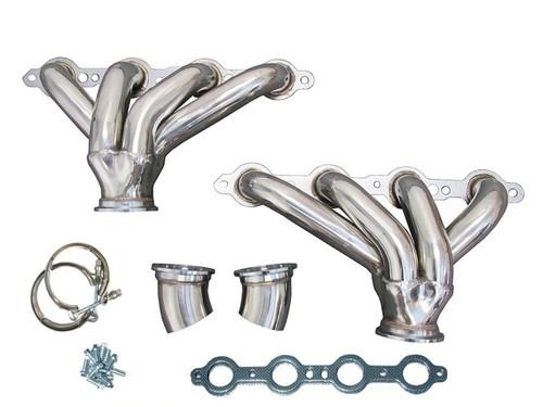 LS Hugger Shorty Ram Horn Headers LS 4.8 5.3 5.7 6.0 6.2 Conversion Swap into Corvette Nomad Bel Air Impala Cadillac