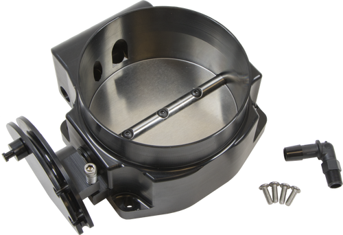 Nick William 102MM LS Gen 3/4 Black Cable Throttle Body, 102MMBK CNC Billet for 4.8 5.3 5.7 6.0 6.2 LS1 LS2 LQ4 LQ9 LS3 L92 L94 L76 L77 LY6 L96