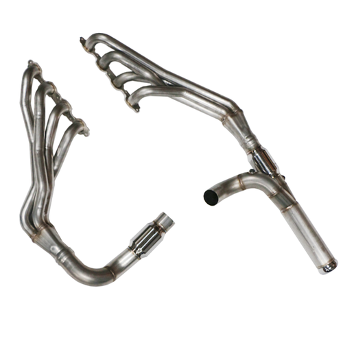 """TSP 1-7/8"""" 304 Stainless Steel Long Tube Headers and Catted Y-Pipe for 2014+ Chevy/GMC 5.3L Trucks"""
