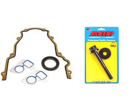 LS7 LS3 Dry Sump Cam Gasket Kit -  ARP Damper Bolt, Timing Cover, Water Pump and Crank Seal  7.0 LS7 and 6.2 Dry Sump LS3  ARP 234-2504 Harmonic Balancer
