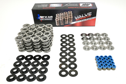 """TSP LS7 7.0 .660"""" POLISHED Dual Spring Kit with Valve Springs, Titanium Retainers, and Shims"""