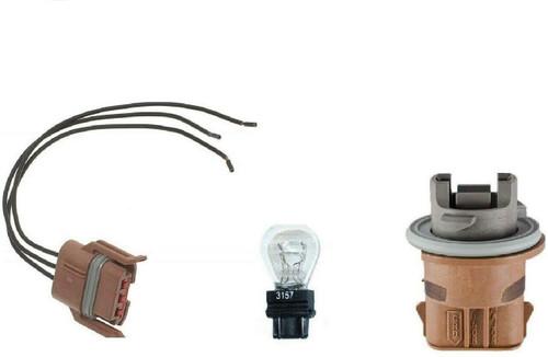 Light Socket Pigtail Brake Light Turn Signal Parking Tail light Lamp and bulb Fits Various Vehicle