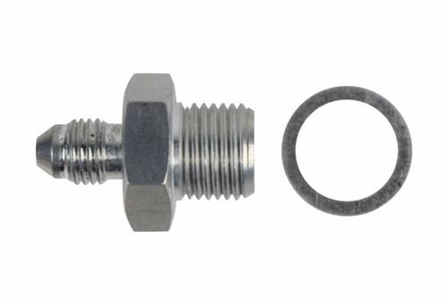 LS Turbo/Supercharger Oil Supply Port Adapter M16-1.5 to -4AN Fitting Billet Aluminum LSX LS1 LS3 LS2