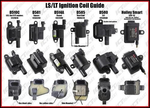 Billet LS Coil Brackets for D585 Heat-sink Truck Coils