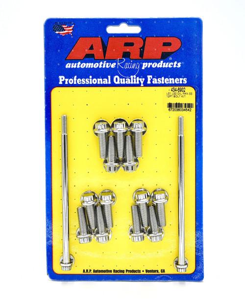 ARP 434-6902 Gen 3/4 LS Oil Pan Bolt Kit 12pt Polished Stainless LS1 4.8 5.3 5.7 6.0 6.2