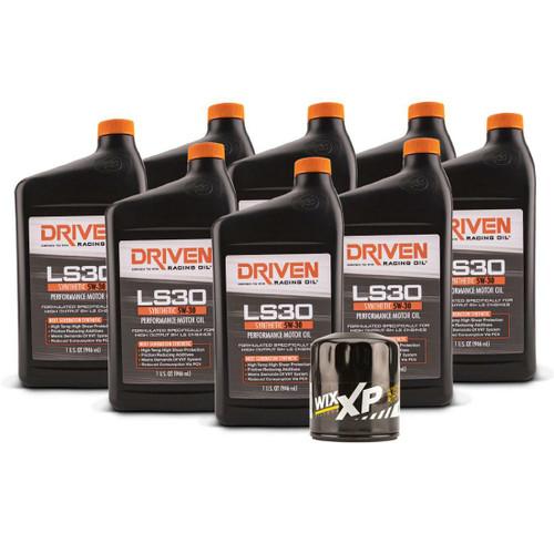 Driven LS30 5W-30 Synthetic 07-13 8 QT Oil Change Kit. For 2007-2013 Gen IV L77, L99, LS3, LS7 5.3 6.2 7.0