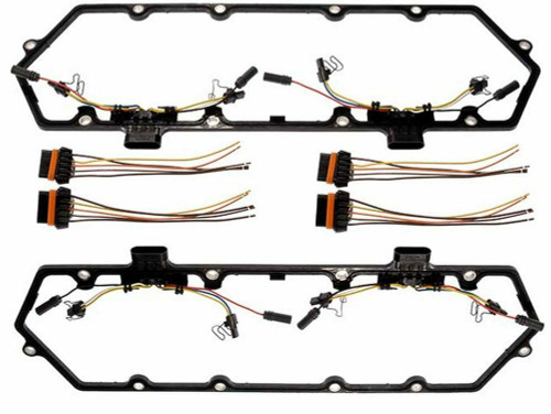 7.3L Diesel Powerstroke Valve Cover Gasket with Injector Glow Plug Harness - Fits Ford 7.3 F250 F350 1994-1997