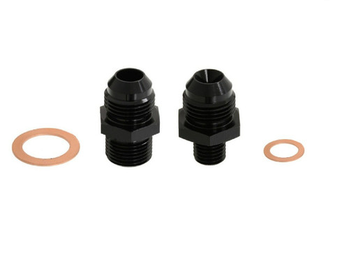 8 AN Inlet 6 AN Outlet 044 Fuel Pump Fittings with crush washer Fits Bosch Fuel pumps
