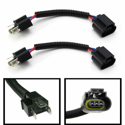 Michigan Motosports Set of H4 9003 To H13 9008 Pigtail Wiring Harness Adapters For H4/H13 Headlight