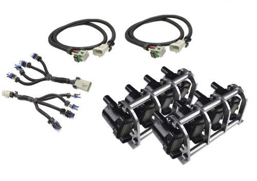 D585 Heat Sink Truck Coil Relocation Bracket Kit with Harnesses - LSX LS LQ4 LQ9 Remote Mount