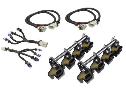 D581  LQ4 LM7 Truck Square Coil Relocation Bracket Kit - LS Swap LSX 551583 Billet