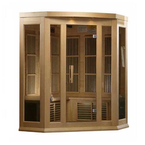 Maxxus Low EMF FAR Infrared Sauna, Hemlock, 3-Person
