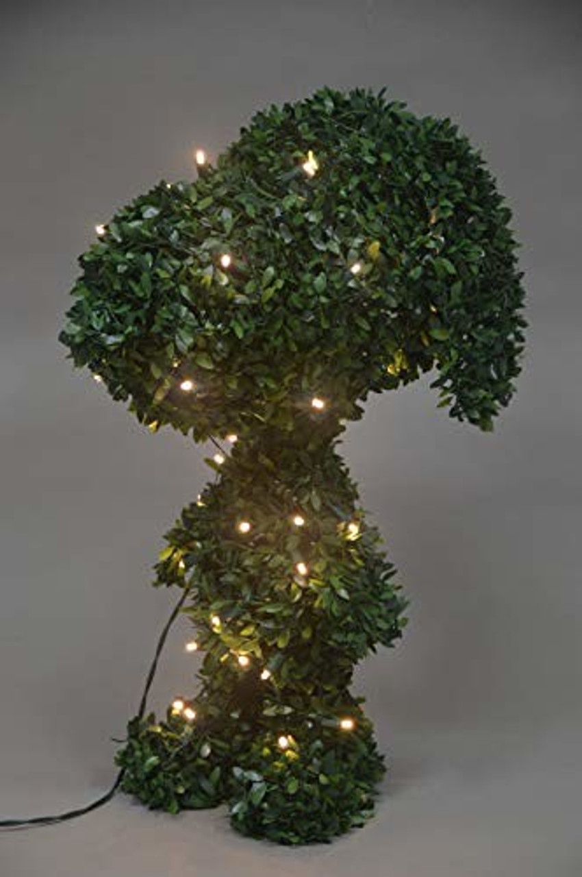 Productworks 24 Snoopy Pre Lit 30 Led Lights Faux Outdoor Topiary Yard Decor Esbenshades