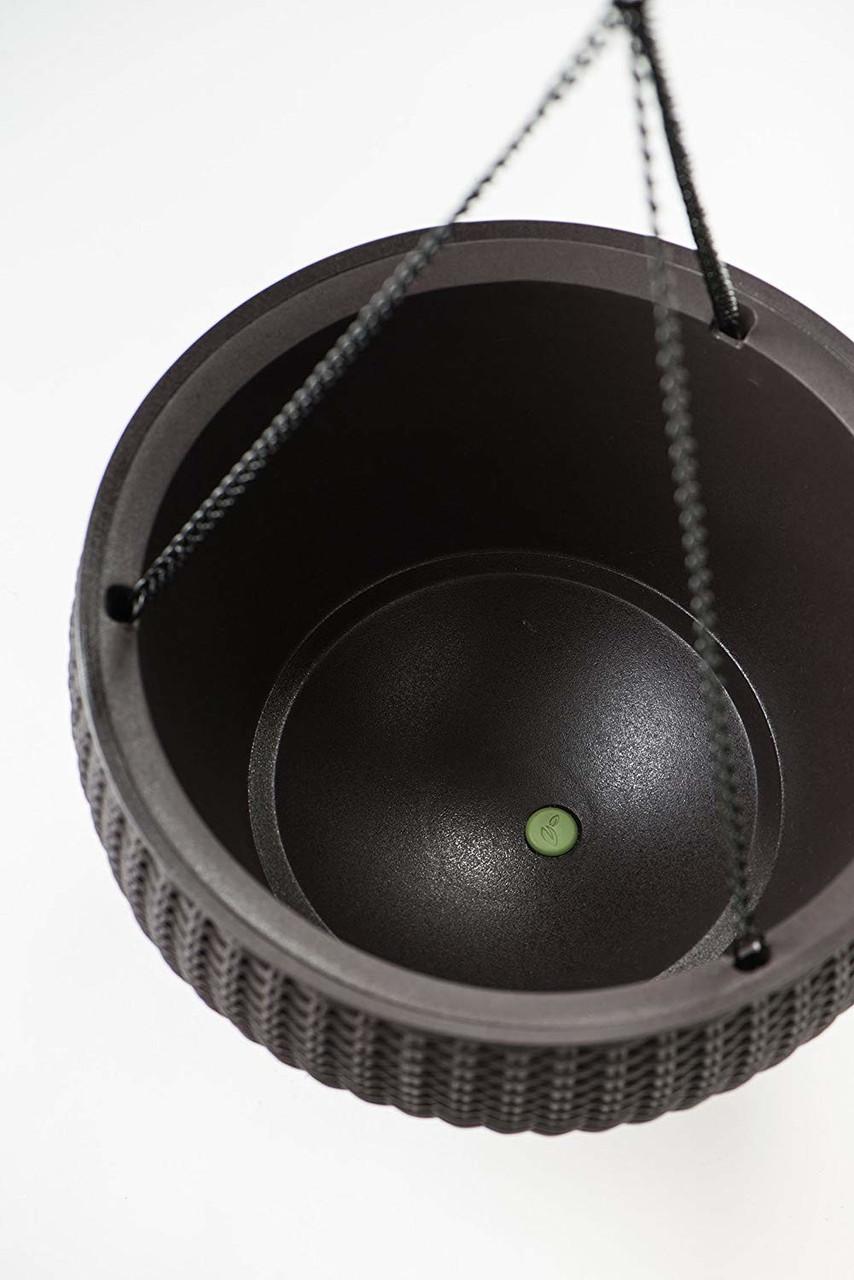 Espresso Brown Keter 221486 Hanging Planter Set