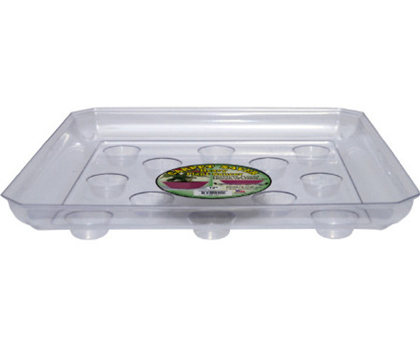 Curtis Wagner Clear Carpet Saver Heavy Duty Square Plant Saucer - 12""