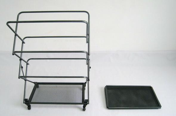 Zenithen Limited RMD7 Four Shelf Folding Rack with Fold-Away Wheels