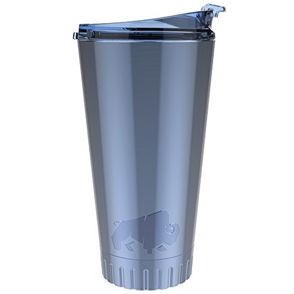 Silver Buffalo Stainless Steel Double Walled Travel Tumbler