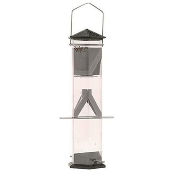 """Nature's Way Bird Products Wide Deluxe Twist and Clean Thistle Feeder, 17"""""""