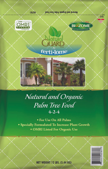 Fertilome Natural Guard Natural and Organic Palm Tree Food 4-2-4, 12lbs