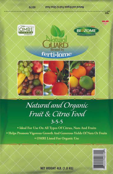 Natural Guard Natural and Organic Fruit and Citrus Food 3-5-5, 4lbs