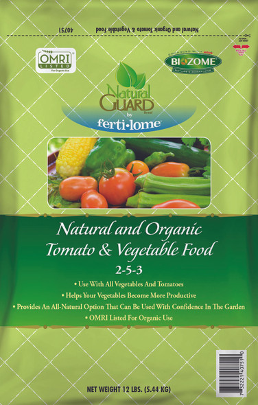 Natural Guard Organic Tomato and Vegetable Food 2-5-3, 12lbs
