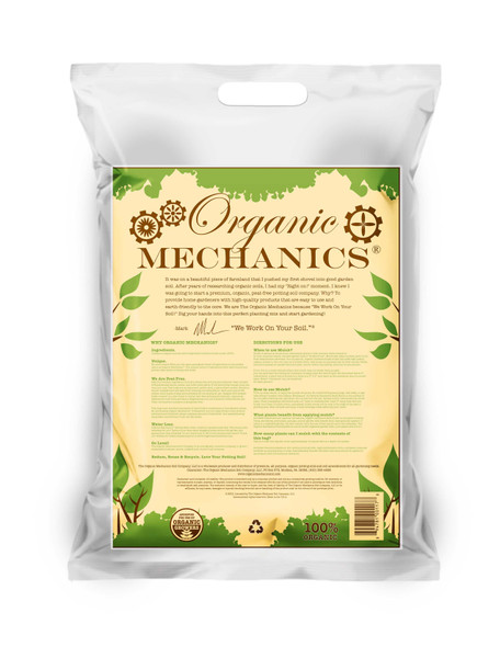 Organic Mechanics, Organic Hardwood Bark Mulch- 2.0 CU FT