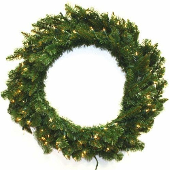 Special Happy Corp LTD 96766 Wreath 100 Clear Lights 210 Tips, 36-Inch